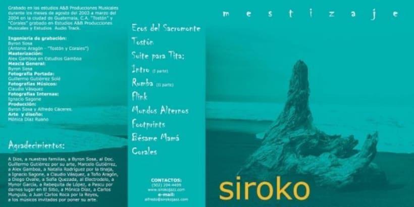 SIROCO jazz group: design of cd book. 0