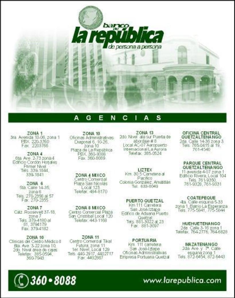 Banco de la Republica: Several print design. 0