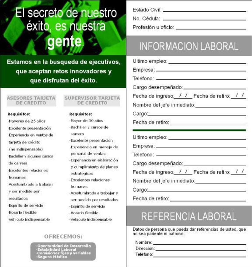 Banco de la Republica: Several print design. 5