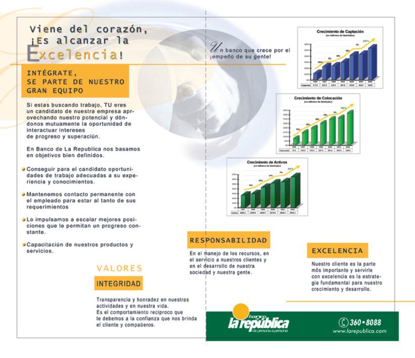 Banco de la Republica: Several print design. 6