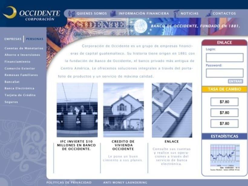 Company Banco de Occidente: Web image and design 0