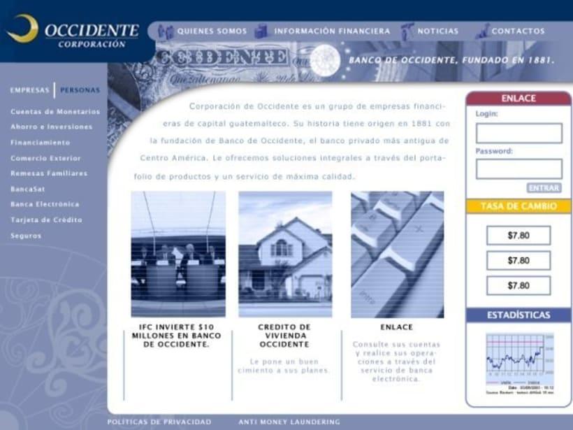Company Banco de Occidente: Web image and design 1