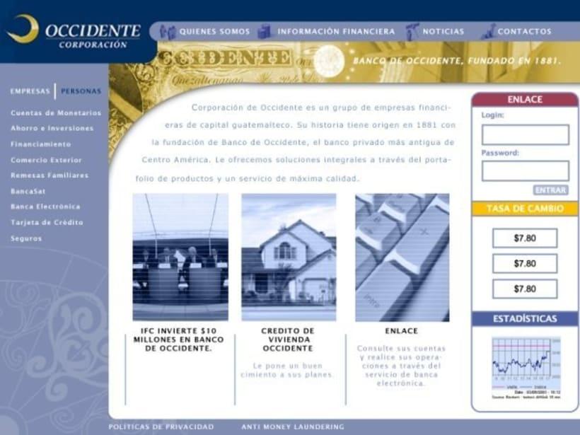 Company Banco de Occidente: Web image and design 2