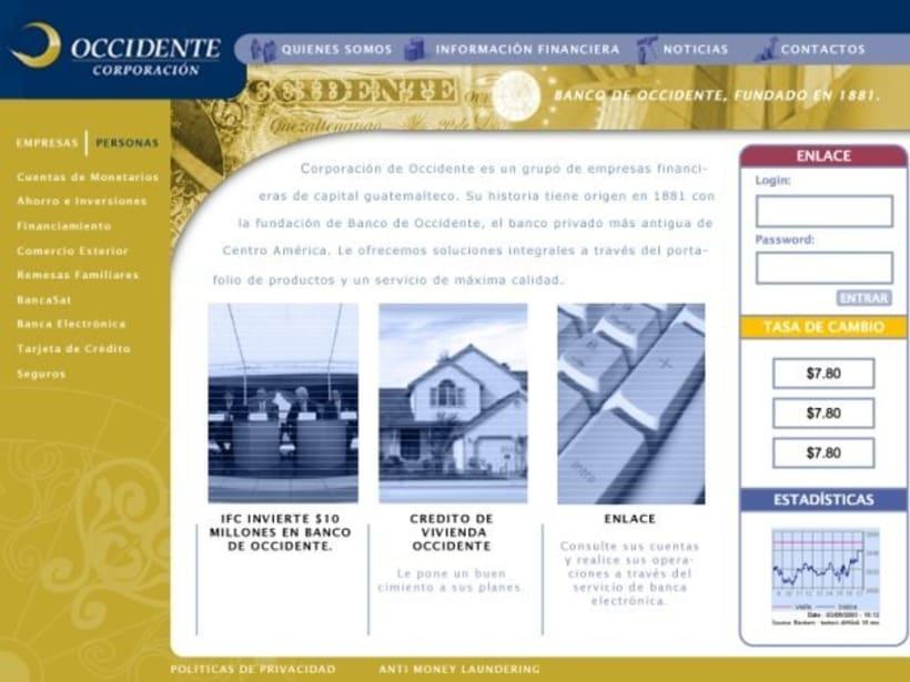 Company Banco de Occidente: Web image and design 3