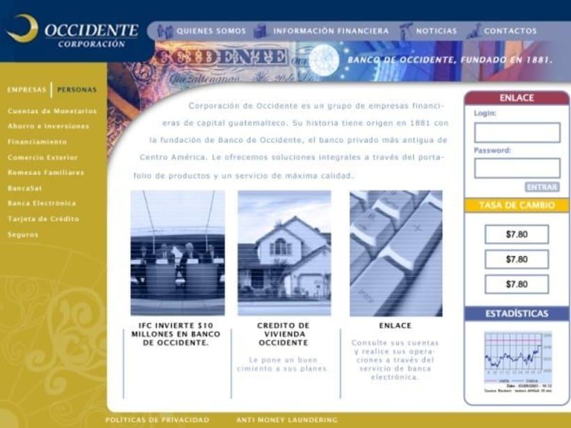Company Banco de Occidente: Web image and design 4
