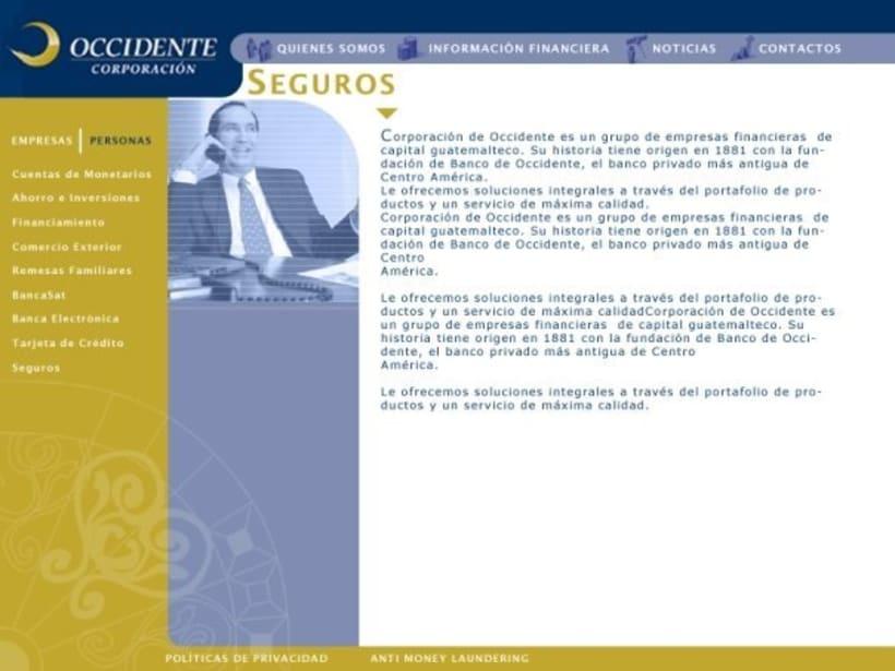 Company Banco de Occidente: Web image and design 5