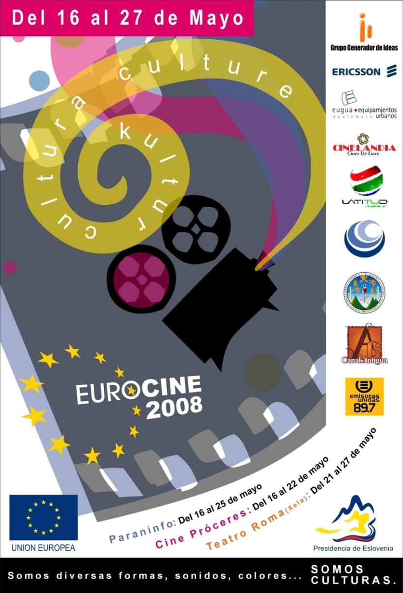 Eurocine - Guatemala 2008: Image design and advertising campaign (1st part) 1