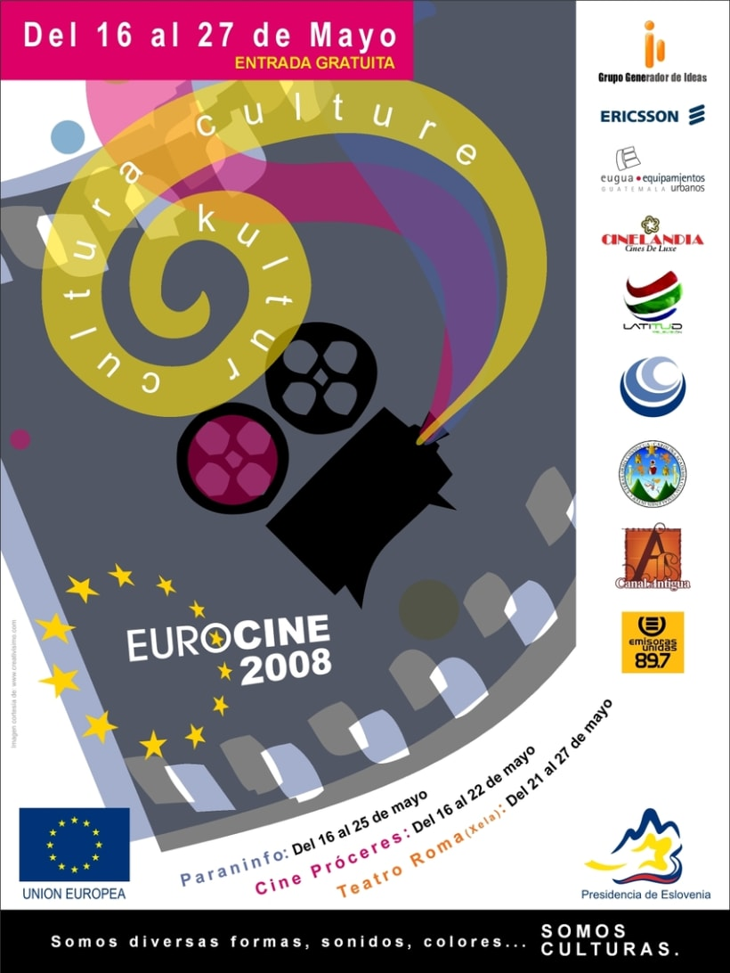 Eurocine - Guatemala 2008: Image design and advertising campaign (1st part) 4