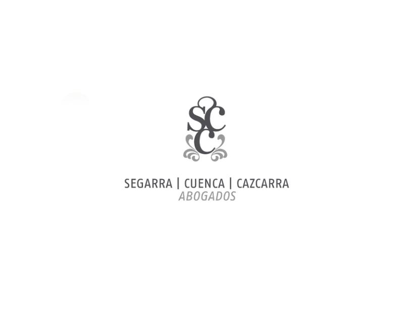 Identidad coorporativa bufete abogados Segarra, Cuenca, Cazcarra. 0