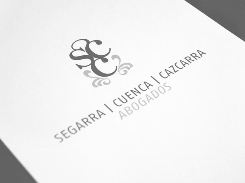Identidad coorporativa bufete abogados Segarra, Cuenca, Cazcarra. 1