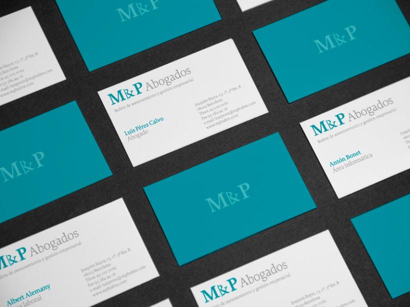 Identidad coorporativa M & P Abogados. 3