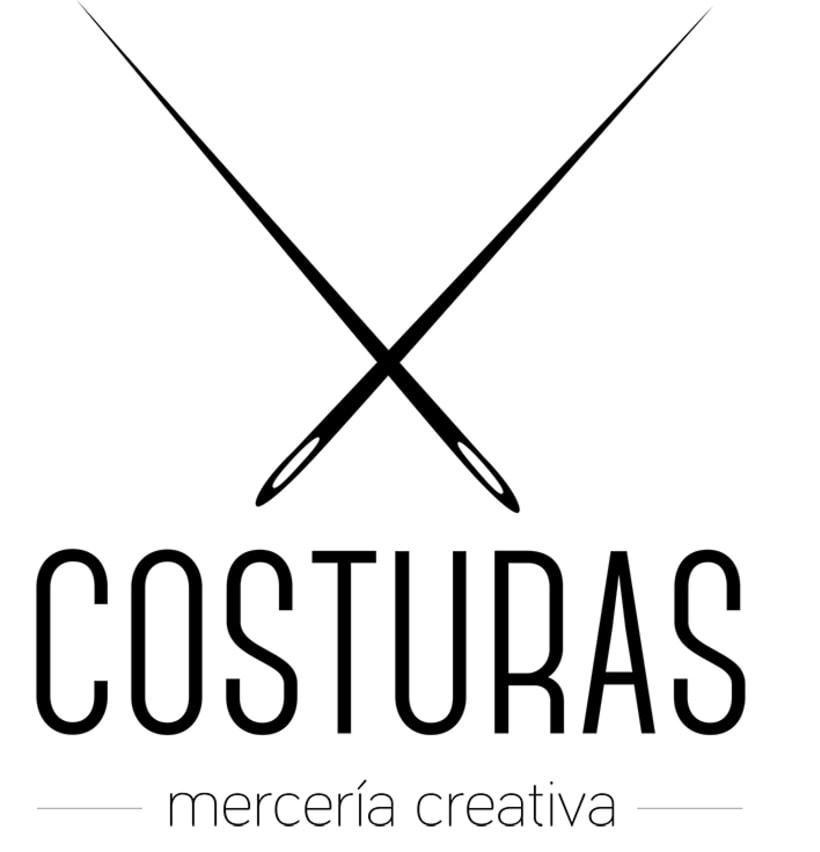 Logotipo Costuras · mercería creativa 1