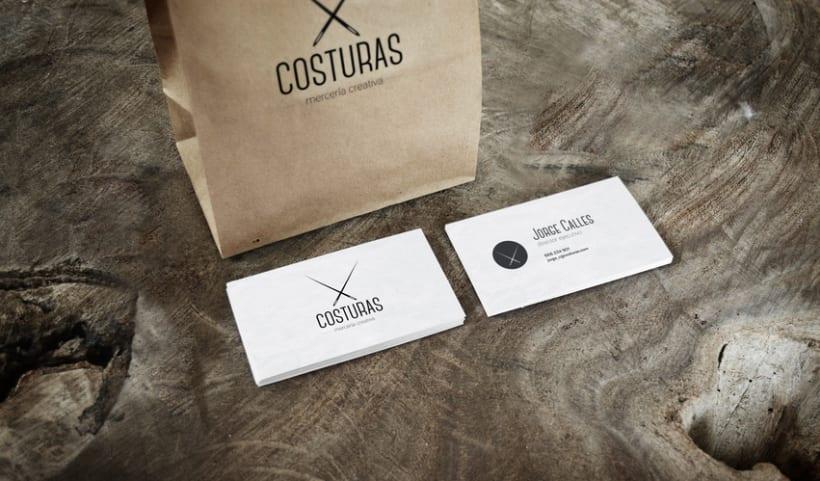 Logotipo Costuras · mercería creativa 2