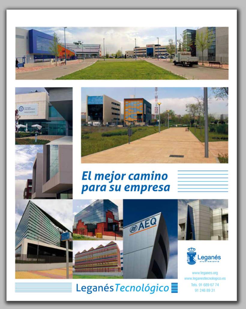 Publicidad de Leganés Tecnológico, (realización de fotografías y diseño) -1