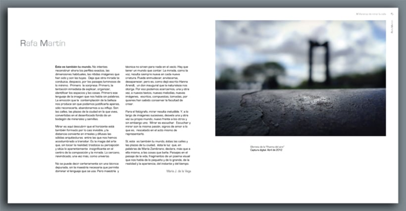 """Catalogo de la exposición colectiva de fotografía """"X Maneras de mirar la calle"""" 6"""