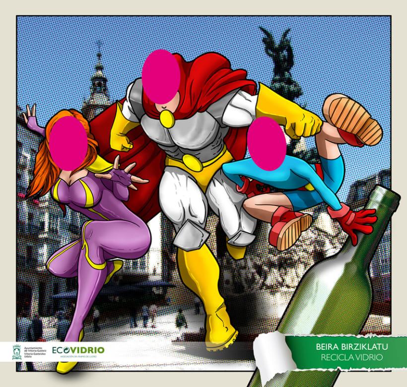 Photocalls campaña de reciclaje de vidrio 1