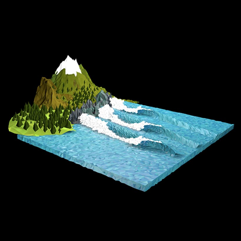 Surf Art 3D - LowPoly 5