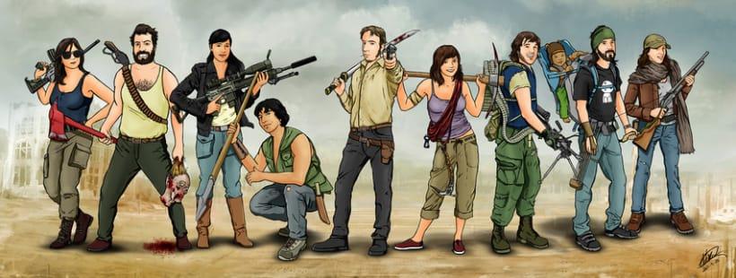 Zombie apocalypse survival team -1
