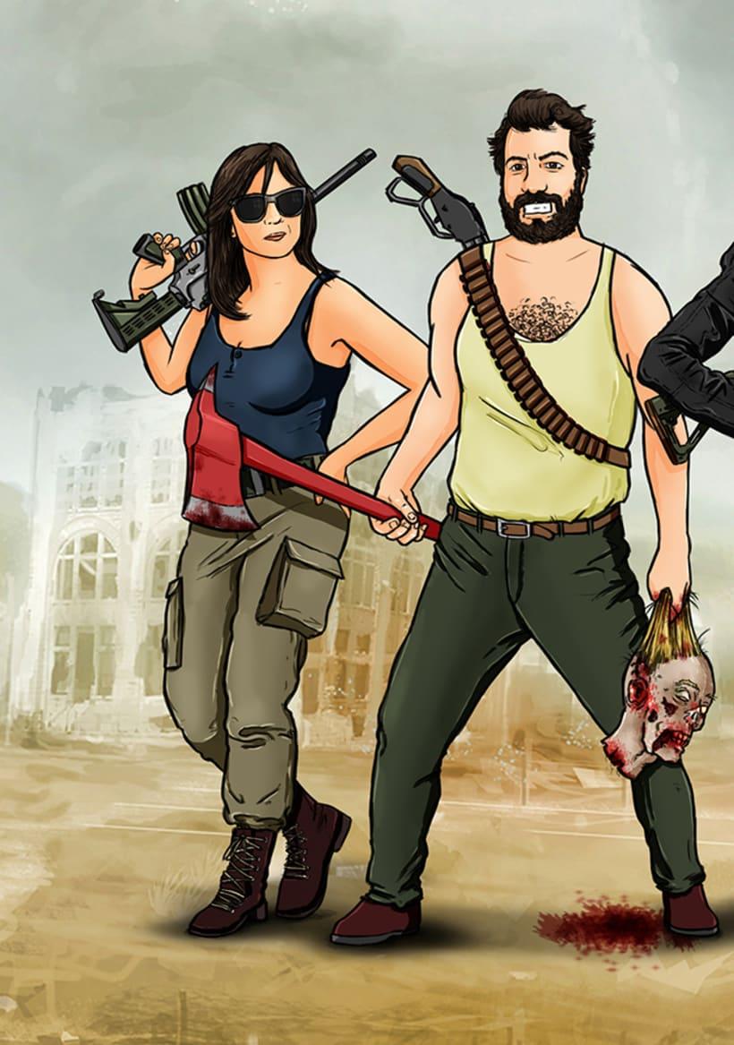 Zombie apocalypse survival team 1