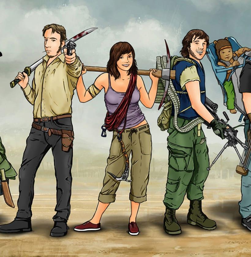 Zombie apocalypse survival team 3