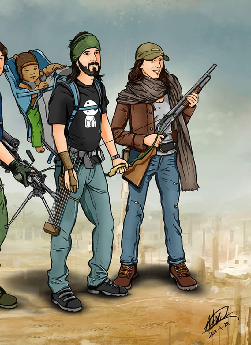 Zombie apocalypse survival team 4