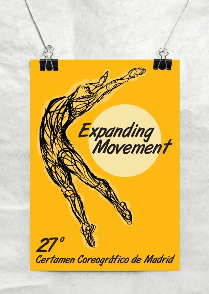Cartel Certamen Coreográfico de Danza de Madrid (concurso) -1