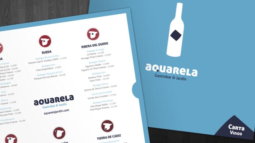 Carta Aquarela Gastrobar & Jardín -1