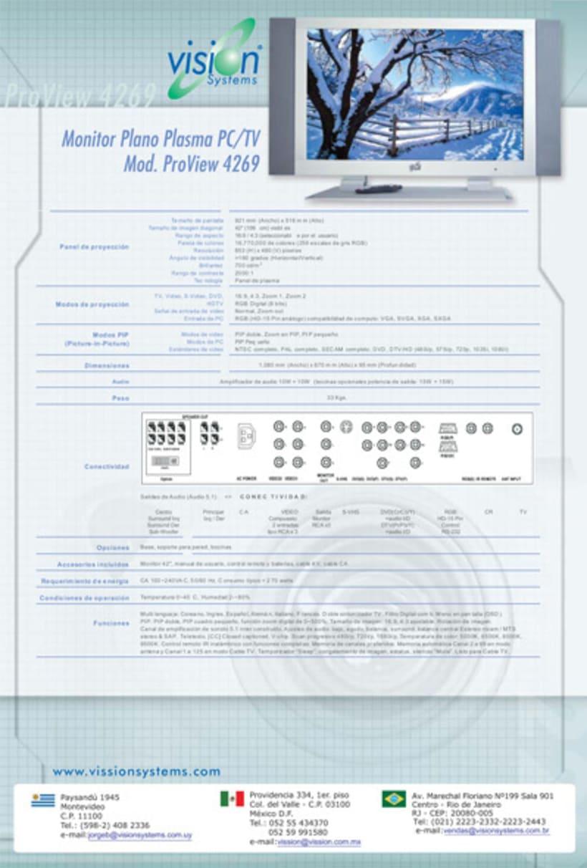 Data sheets, Documentos de Productos, Mailing 8
