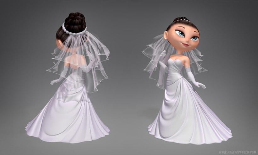 Cartoon Bride 0