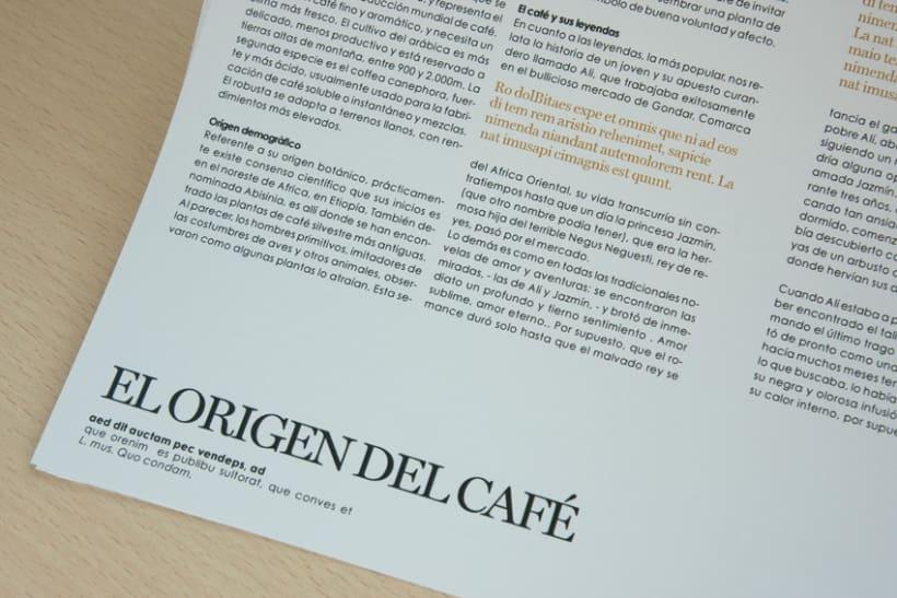 """Disseny i maquetació """"receptari de cafè"""" 2"""