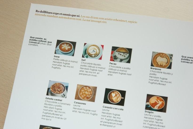 """Disseny i maquetació """"receptari de cafè"""" 5"""
