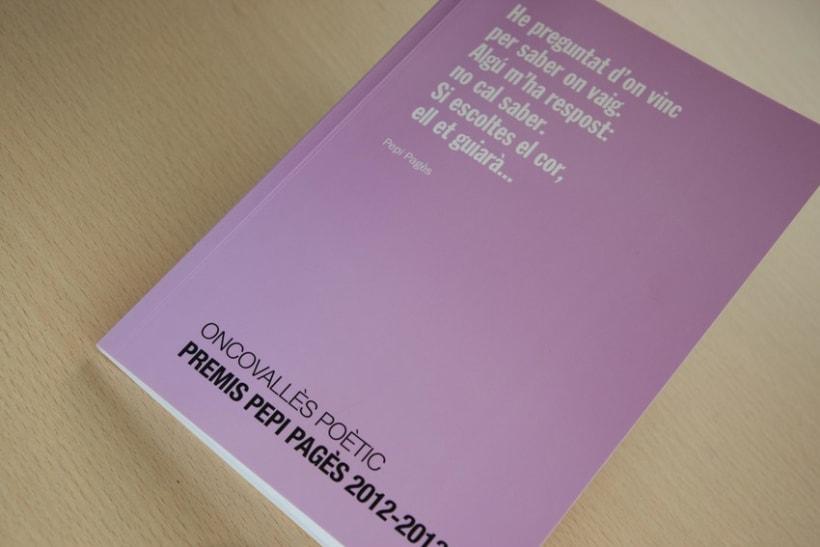 """Disseny i maquetació del llibre de poesia """"Premis Pepi Pagès 2012-2013"""" 1"""