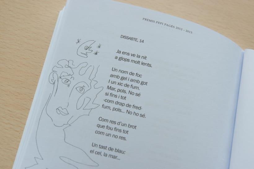"""Disseny i maquetació del llibre de poesia """"Premis Pepi Pagès 2012-2013"""" 4"""