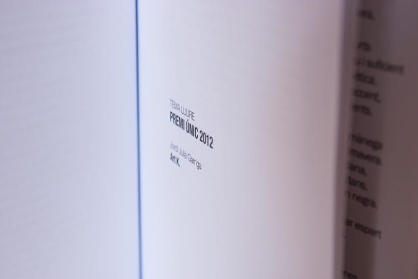 """Disseny i maquetació del llibre de poesia """"Premis Pepi Pagès 2012-2013"""" 2"""