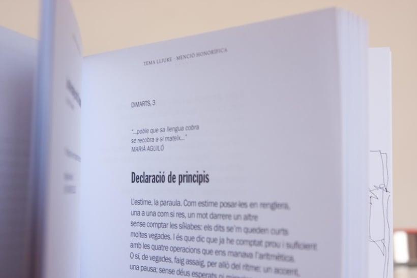 """Disseny i maquetació del llibre de poesia """"Premis Pepi Pagès 2012-2013"""" 3"""