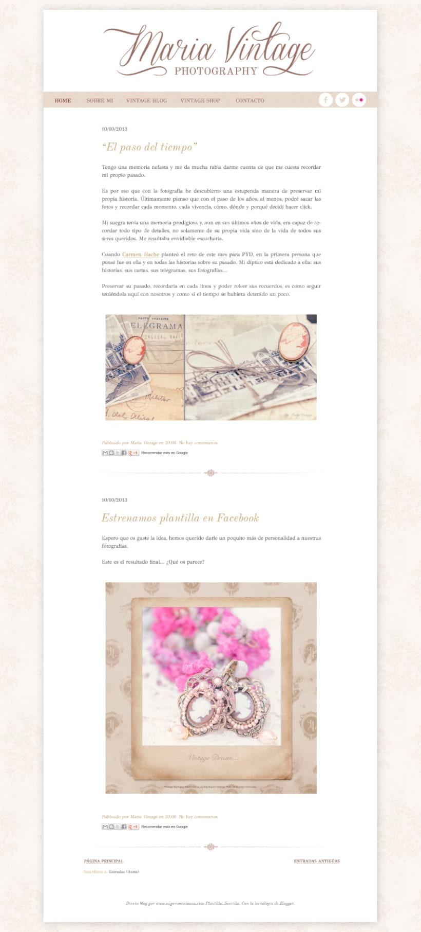 Maria Vintage Photography · Logo/Signature Design & Blog Restyle 1