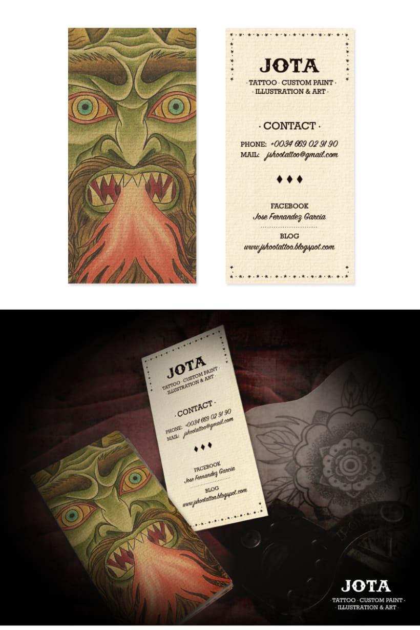 JOTA TATTOO · Business Cards - Brand II 0