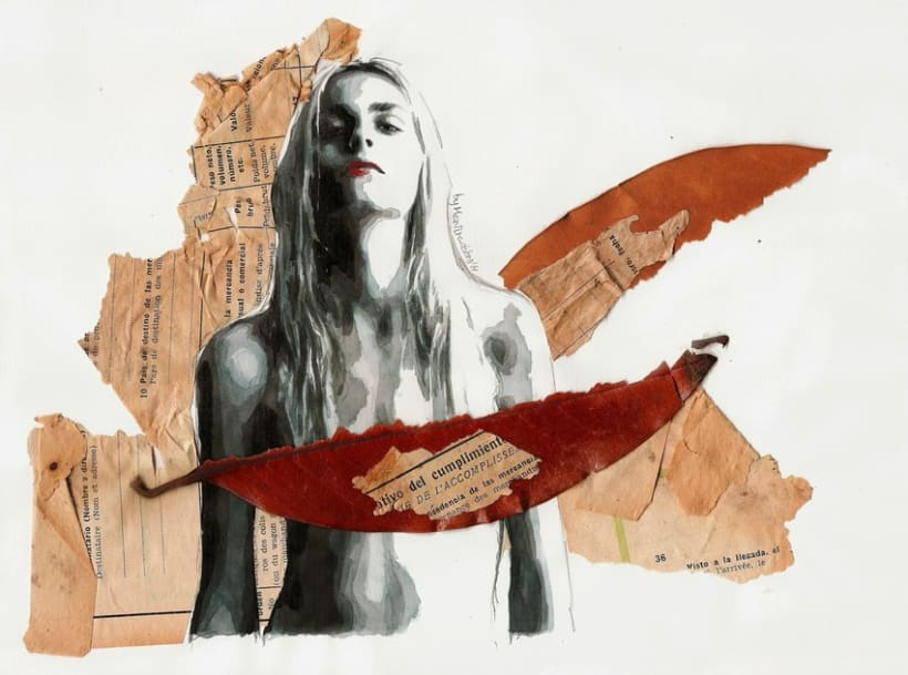 Take another drag, turn me to ashes (Portrait of Andrej Pejic) -1
