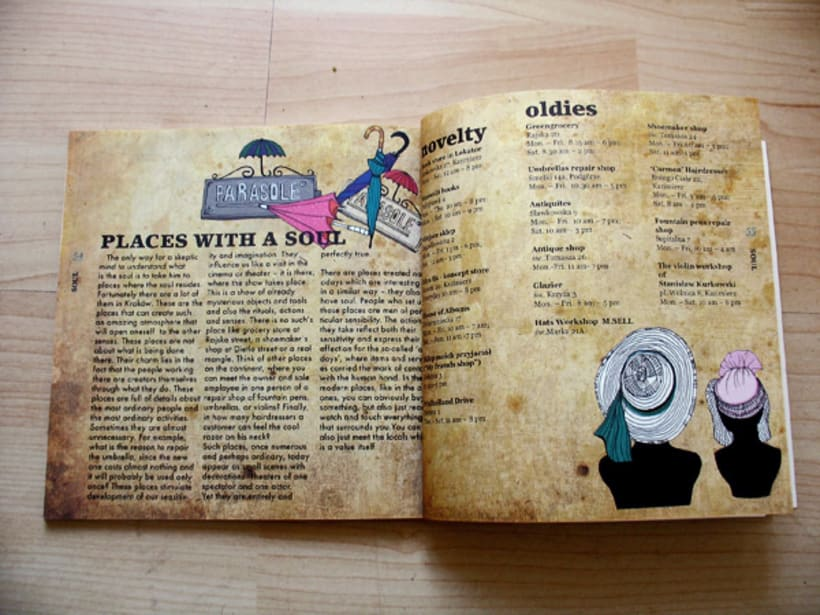 Illustrations for the project Krakow unguide 1
