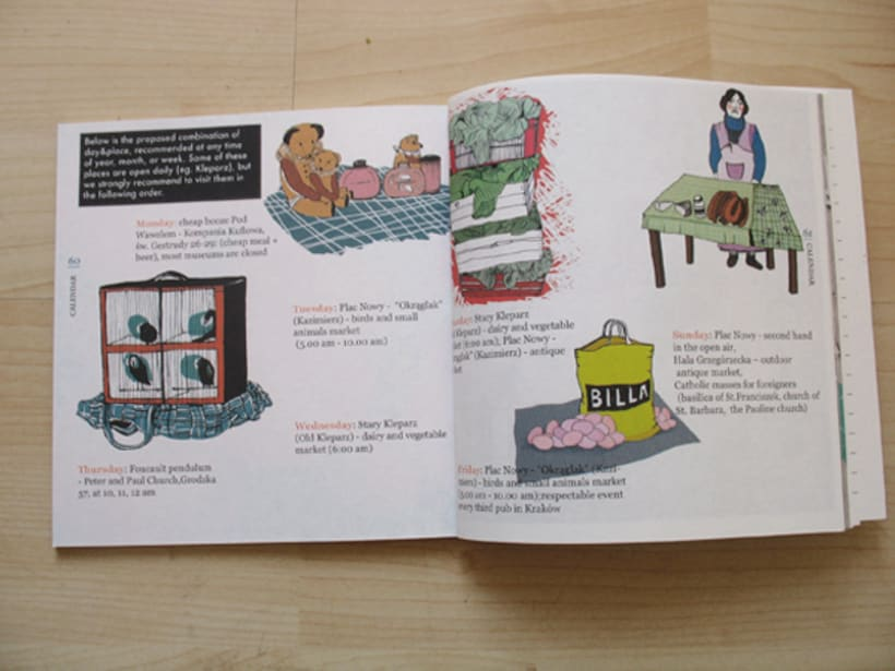 Illustrations for the project Krakow unguide 4