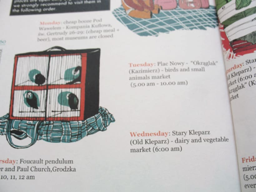 Illustrations for the project Krakow unguide 5