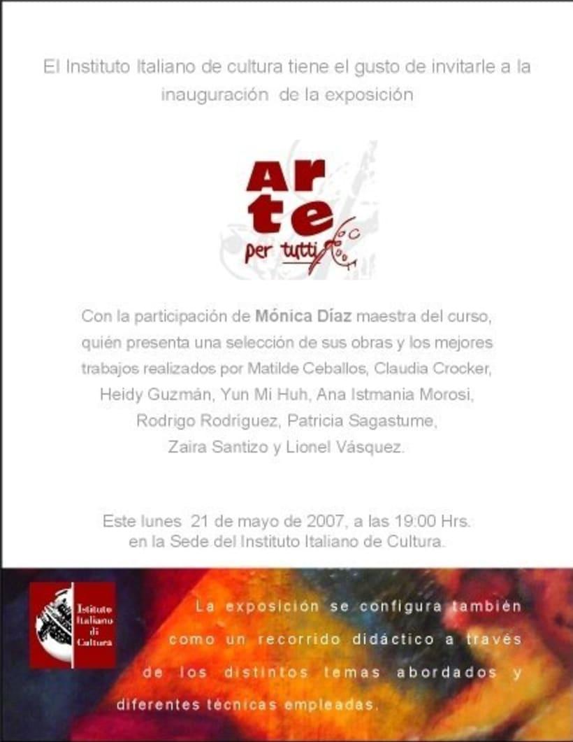 1st Exposition : Arte per tuti (IIC-Guatemala) Students and me. -1