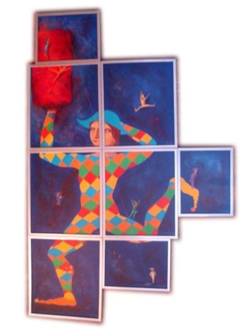 1st Exposition : Arte per tuti (IIC-Guatemala) Students and me. 0