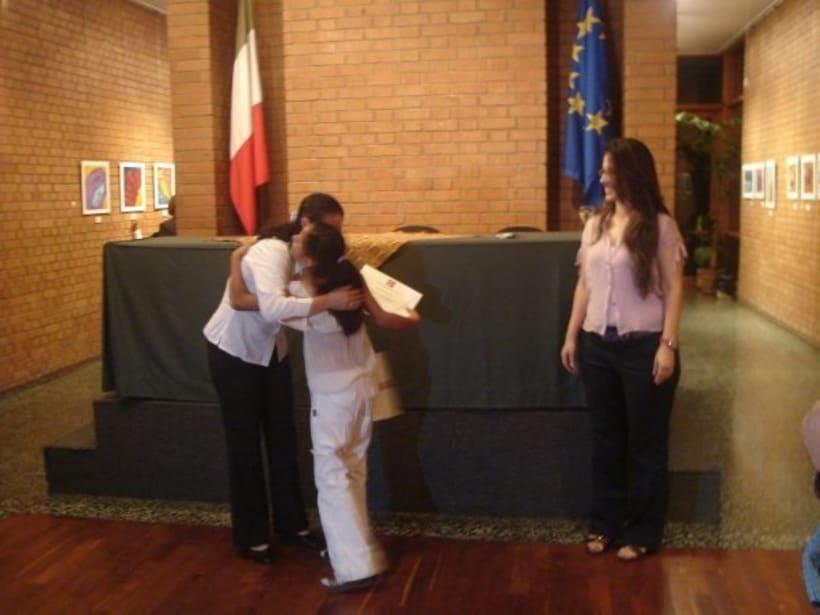1st Exposition : Arte per tuti (IIC-Guatemala) Students and me. 2