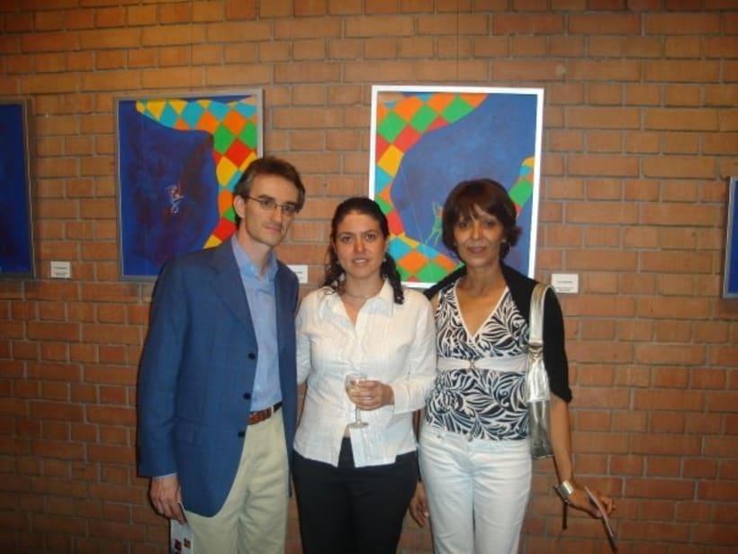 1st Exposition : Arte per tuti (IIC-Guatemala) Students and me. 8