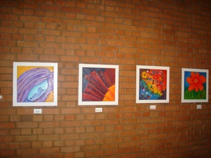 1st Exposition : Arte per tuti (IIC-Guatemala) Students and me. 9