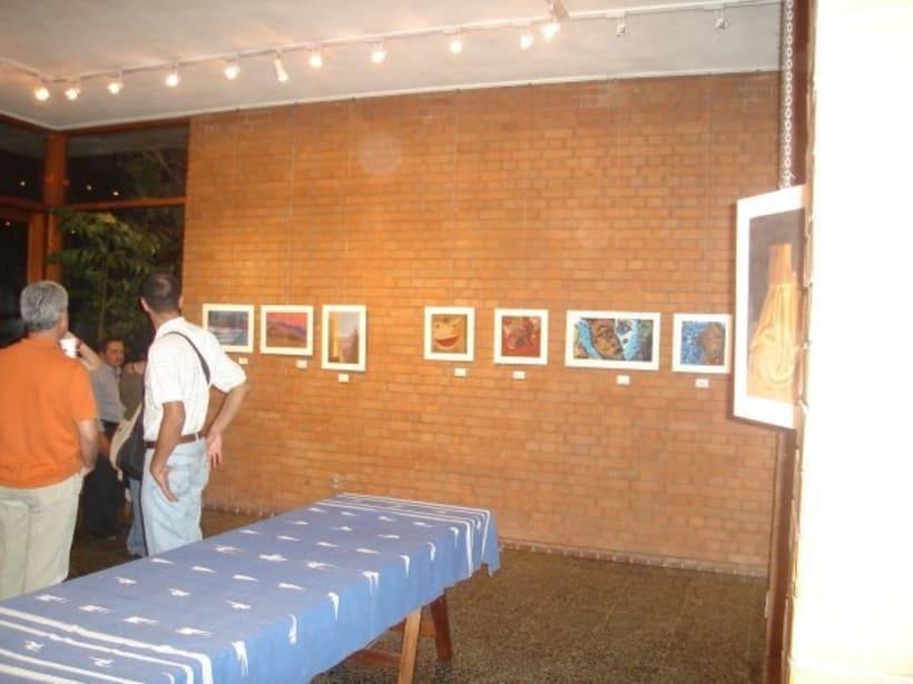 1st Exposition : Arte per tuti (IIC-Guatemala) Students and me. 10