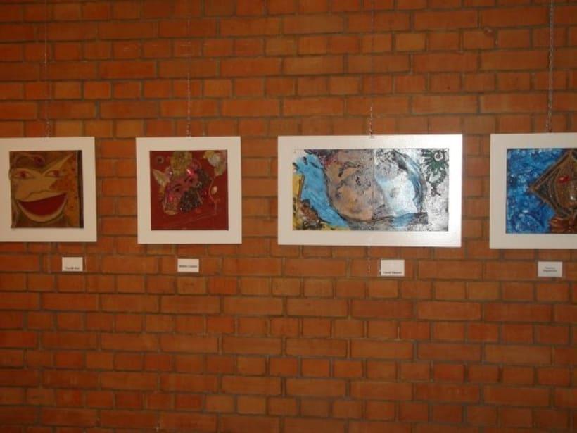1st Exposition : Arte per tuti (IIC-Guatemala) Students and me. 11