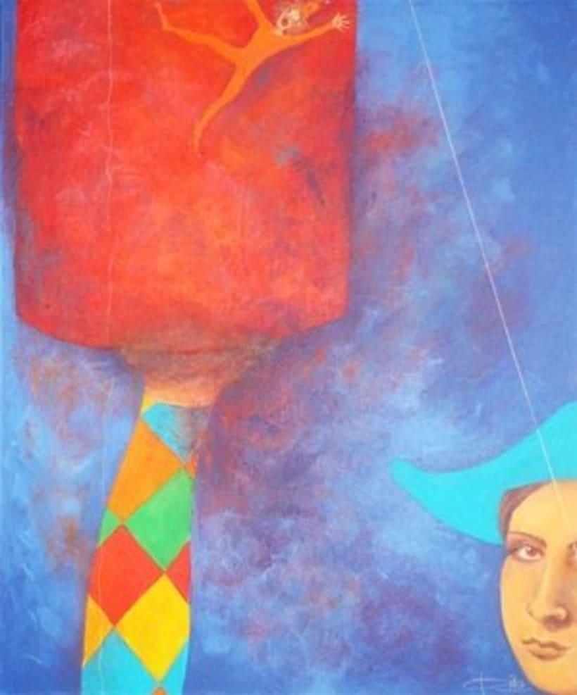 1st Exposition : Arte per tuti (IIC-Guatemala) Students and me. 15