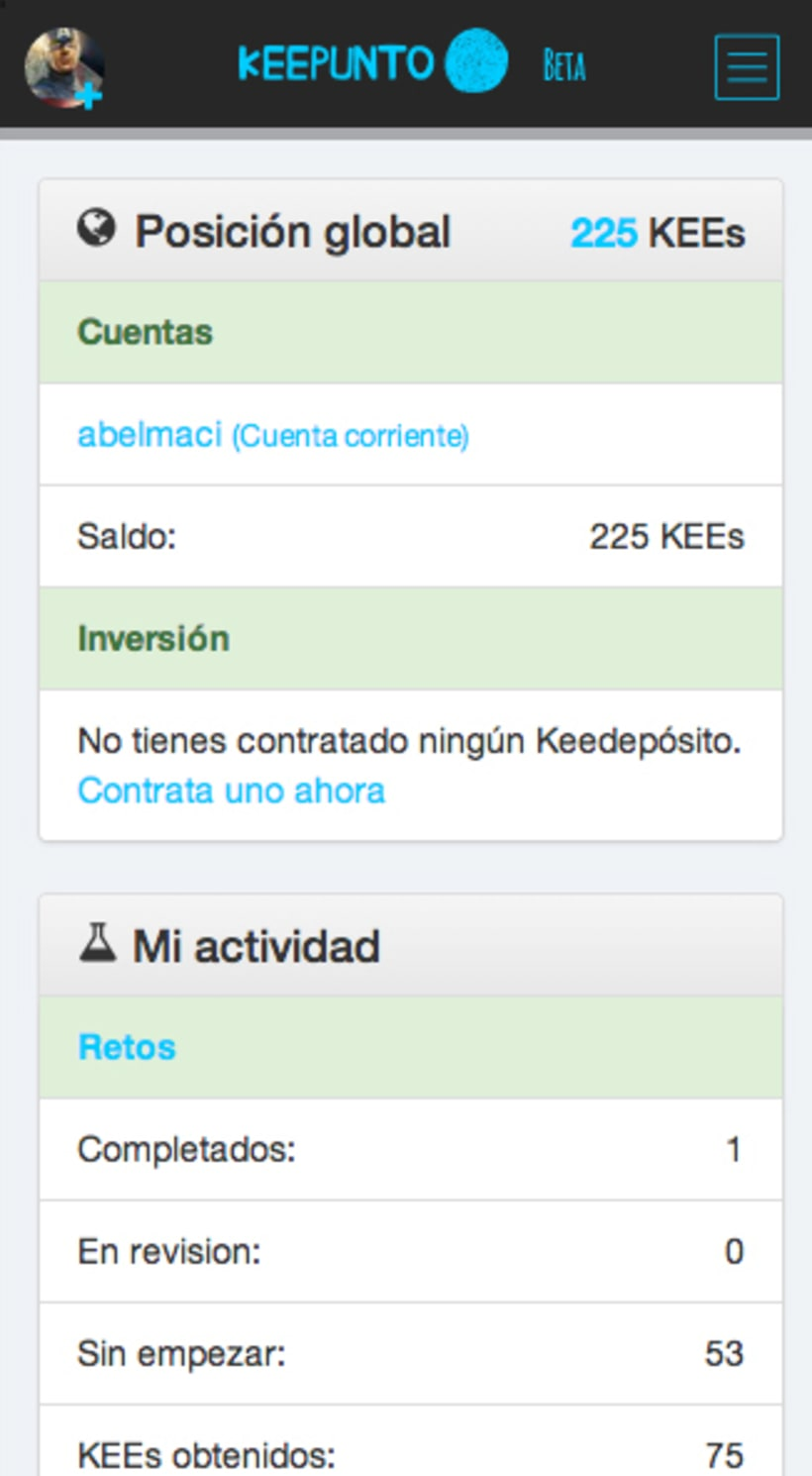 Keepunto Diseño Movil (web mobile) 6